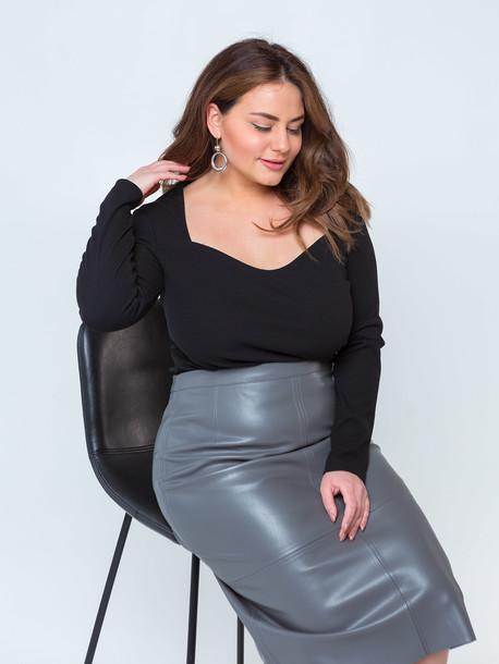 Ладья удлиненная TRAND юбка серый