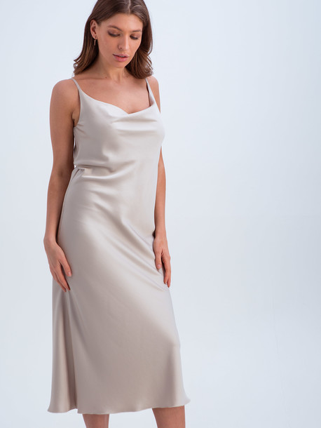 Анели платье жемчужный