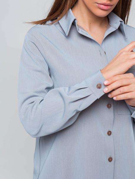 Абби рубашка голубой