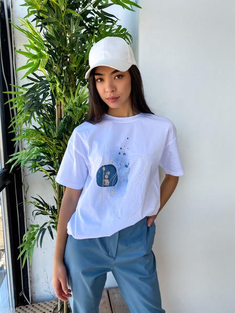 Кати футболка белый