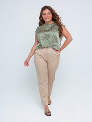 Ясмина TRAND блуза принт зеленый