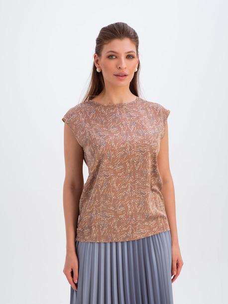 Ясмина GRAND блуза принт бежевый