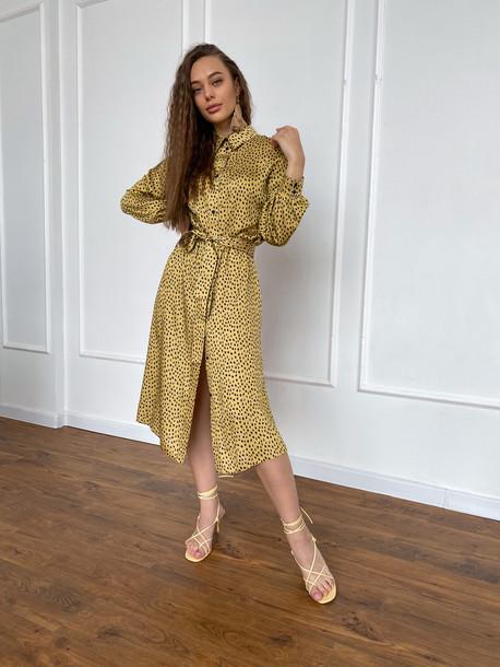 Мариетта платье-рубашка желтый