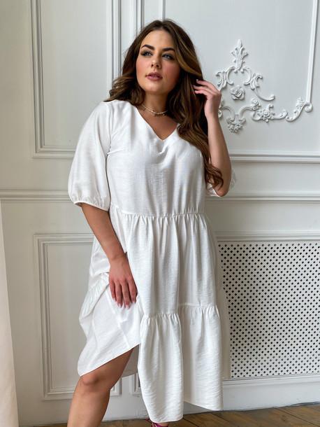 Шерити TRAND платье белый