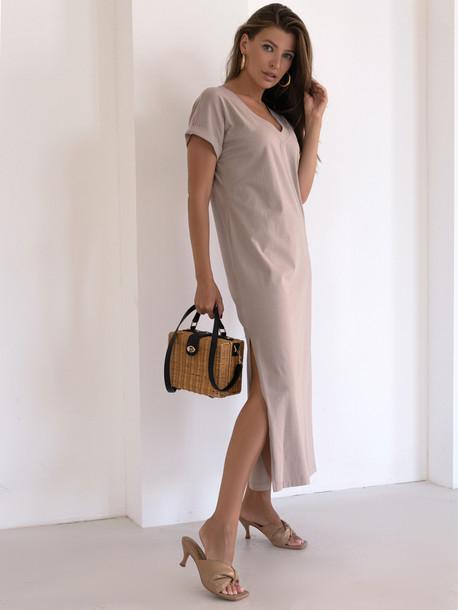 Алекса GRAND платье миндаль