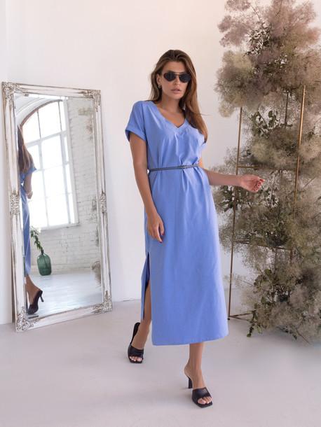 Алекса GRAND платье светлый джинс