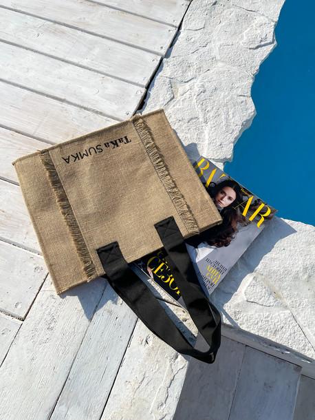 Джути Бохо сумка песочный