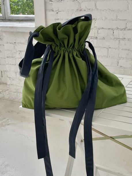Кулиса сумка зеленый орех