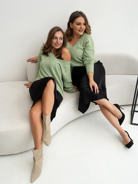 Альфа свитер зеленый