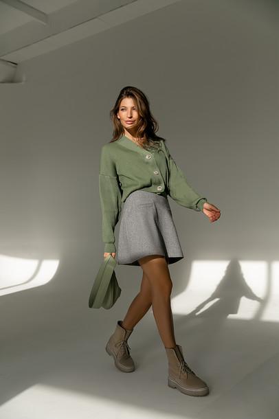 Пеппи юбка мини серый