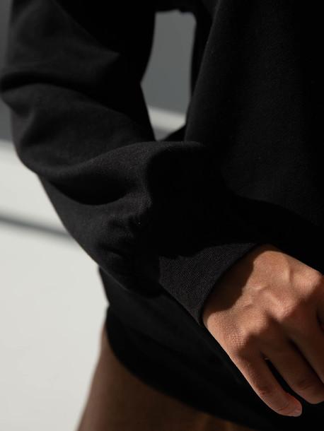Поло свитшот черный